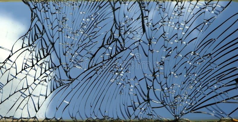 Gebrochenes Fenster stockbild