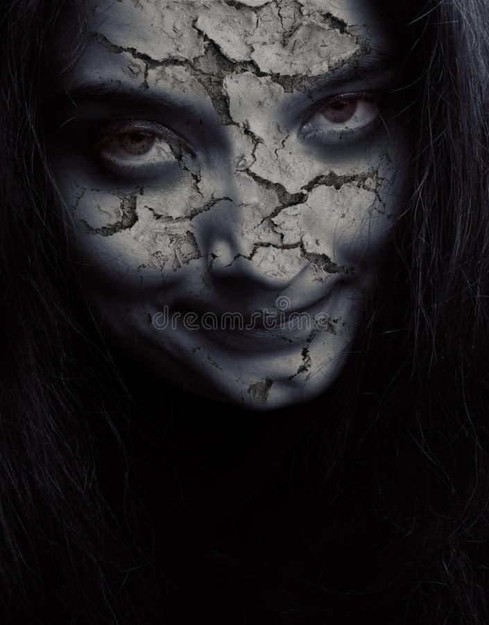 Gebrochenes schlechtes Gesicht lizenzfreies stockbild