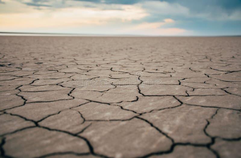 Gebrochenes Ufer des Salzsees lizenzfreies stockbild