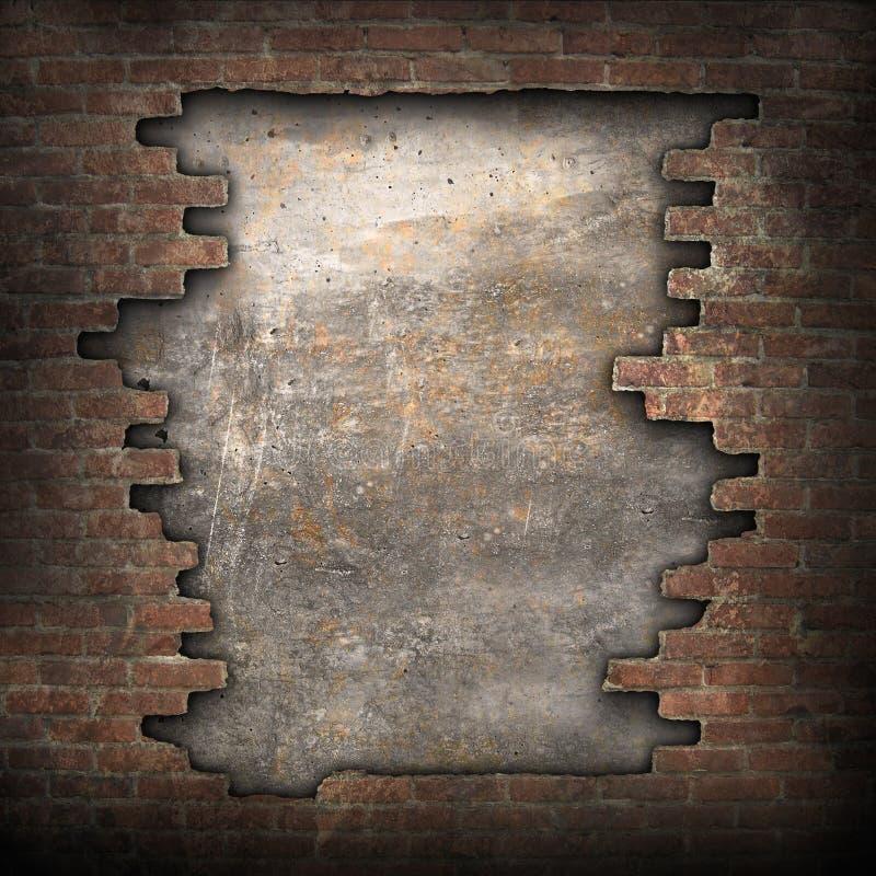 Gebroken bakstenen muur royalty-vrije stock fotografie