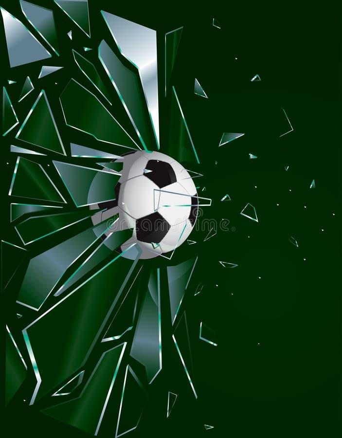 Gebroken Bal 2 van het Voetbal van het Glas stock illustratie