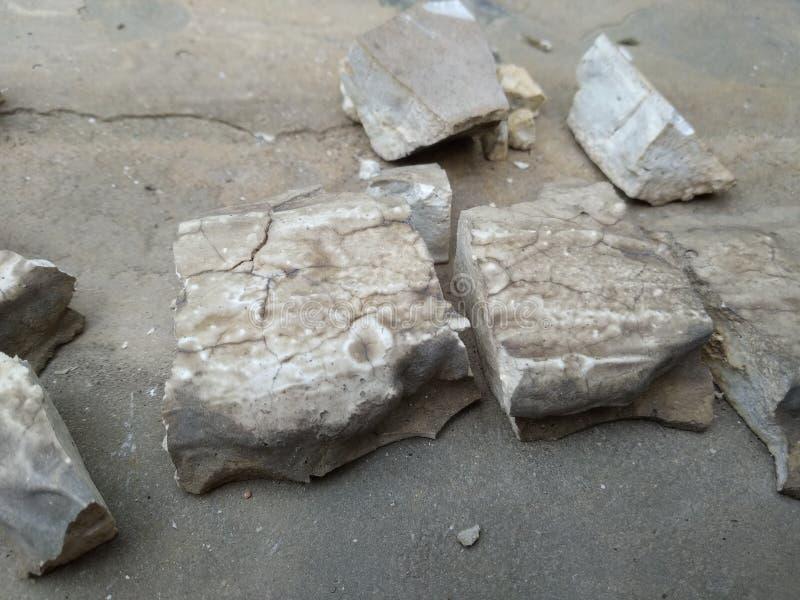 Gebroken beton royalty-vrije stock foto