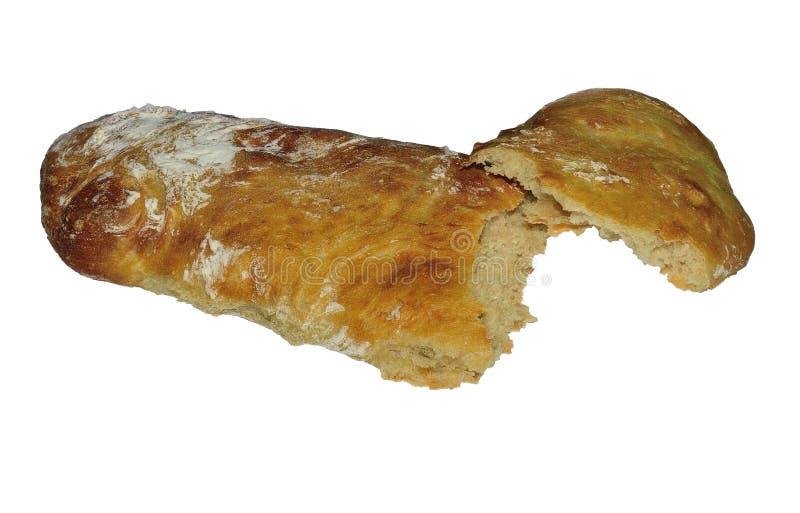 Gebroken brood van wit brood royalty-vrije stock foto