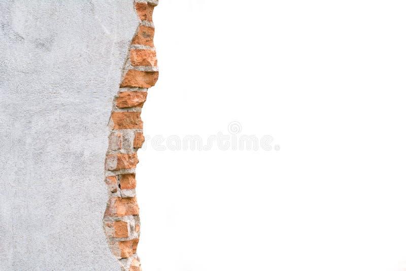 Gebroken Concrete Muur stock fotografie