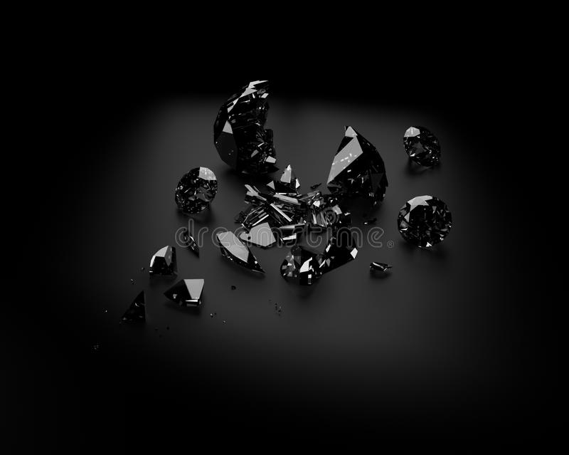 Gebroken diamant stock illustratie