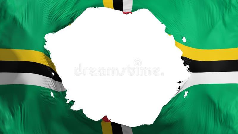 Gebroken Dominica vlag stock illustratie