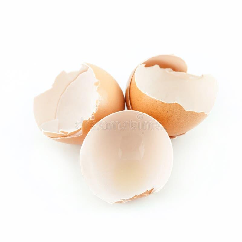 Gebroken eierschaal stock afbeelding