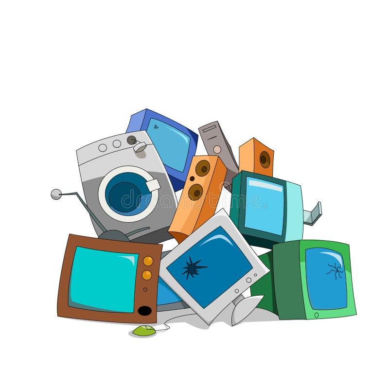 Gebroken elektronika royalty-vrije illustratie