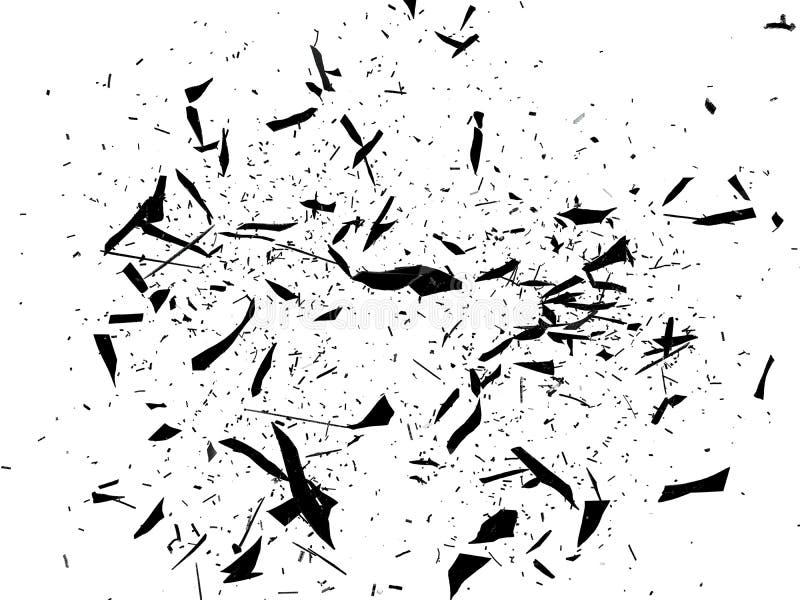 Gebroken en Verbrijzeld glas op wit vector illustratie