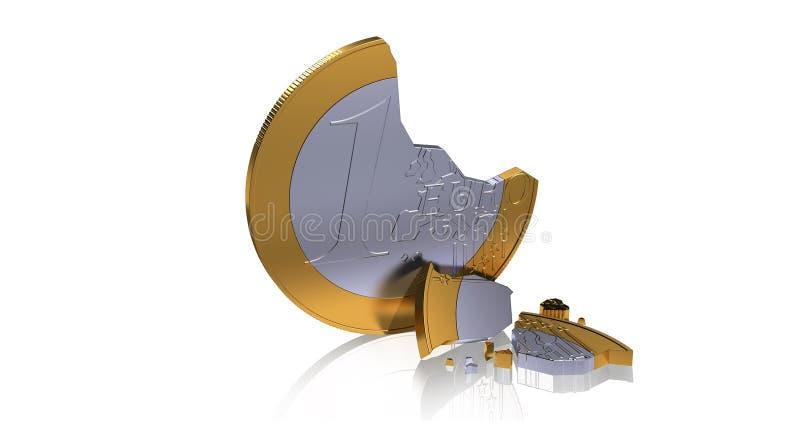 Gebroken Euro royalty-vrije illustratie
