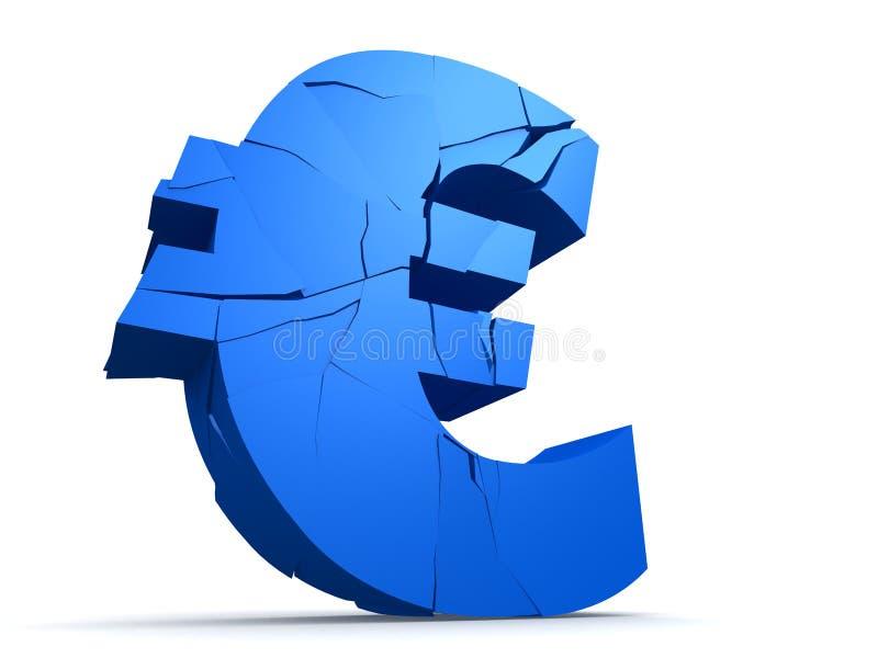 Gebroken euro vector illustratie