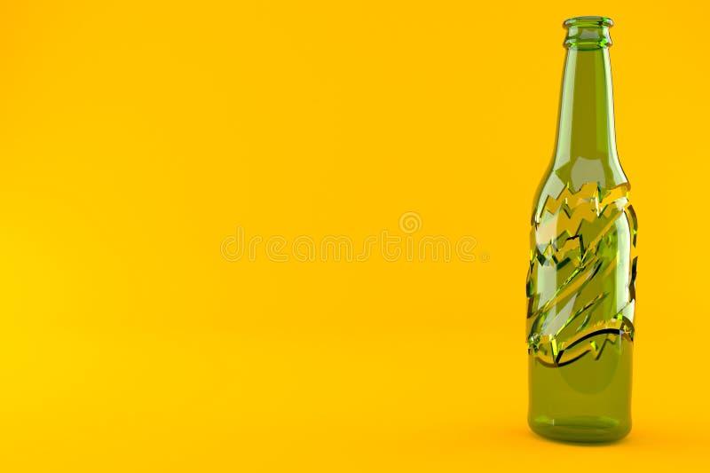 Gebroken fles stock illustratie