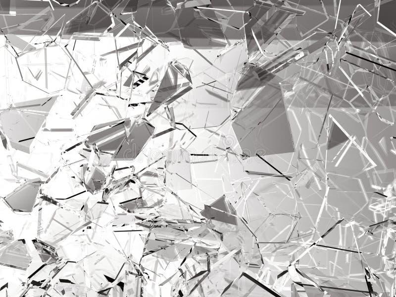 Gebroken of gebarsten stukken van glas royalty-vrije illustratie