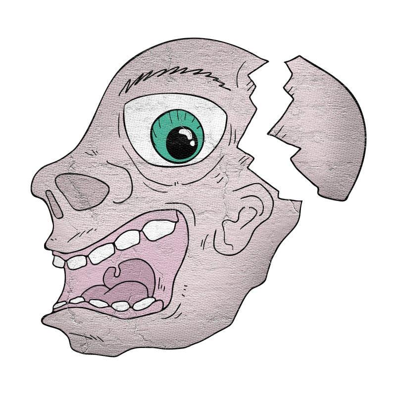 Gebroken gezicht stock illustratie