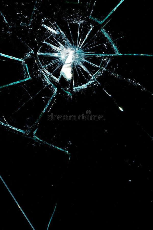Gebroken glas stock afbeelding