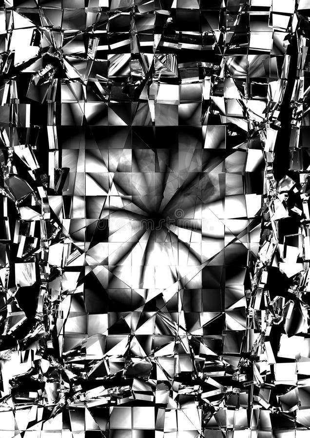 Gebroken Glas royalty-vrije stock afbeeldingen