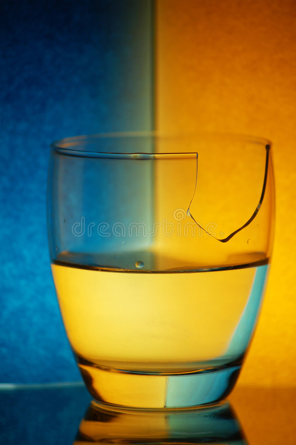 Gebroken glas royalty-vrije stock foto's