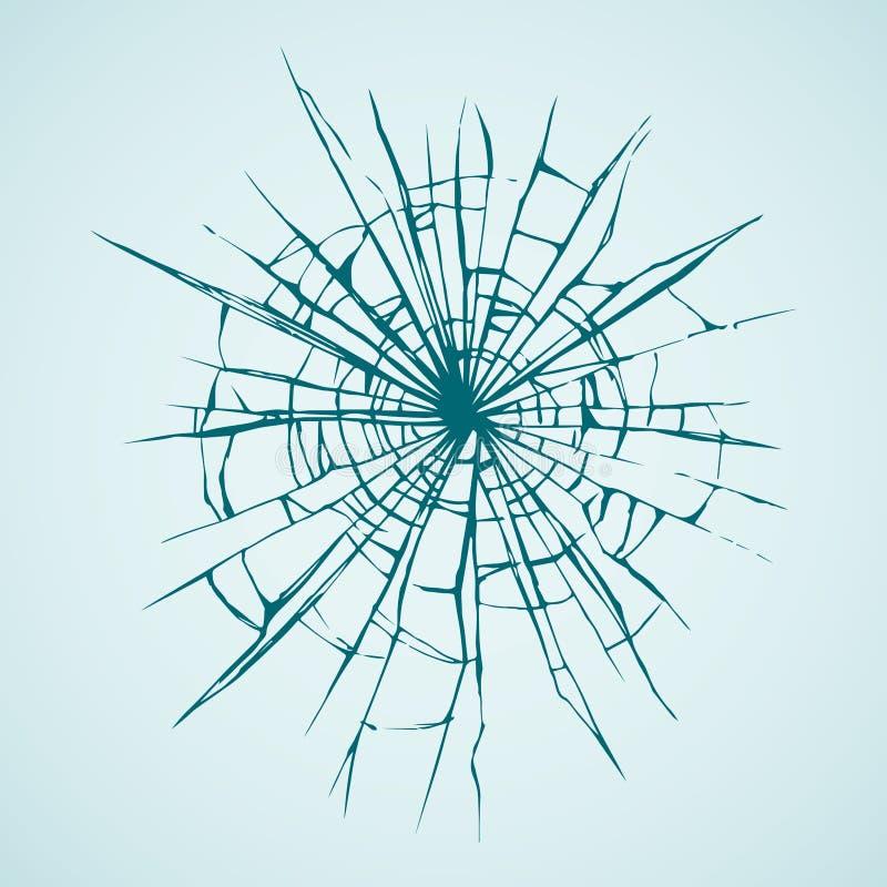 Gebroken Glas Vector tekening royalty-vrije illustratie