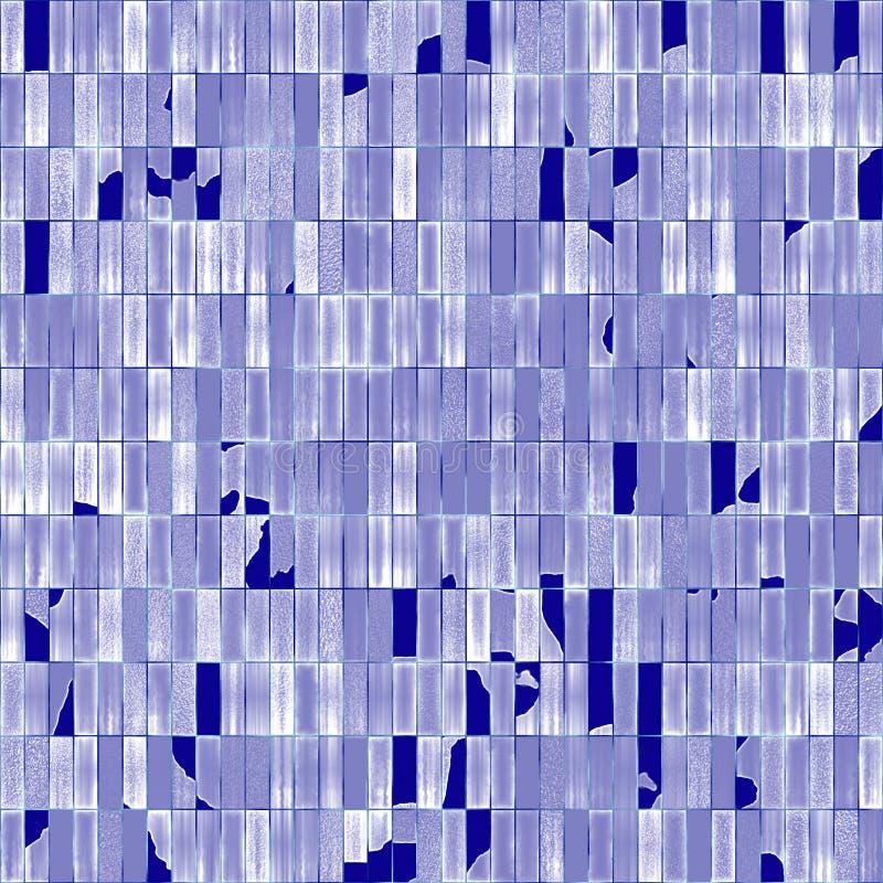 Gebroken glazige tegels stock illustratie