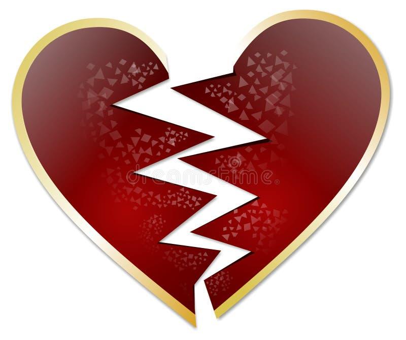 Gebroken hart royalty-vrije illustratie