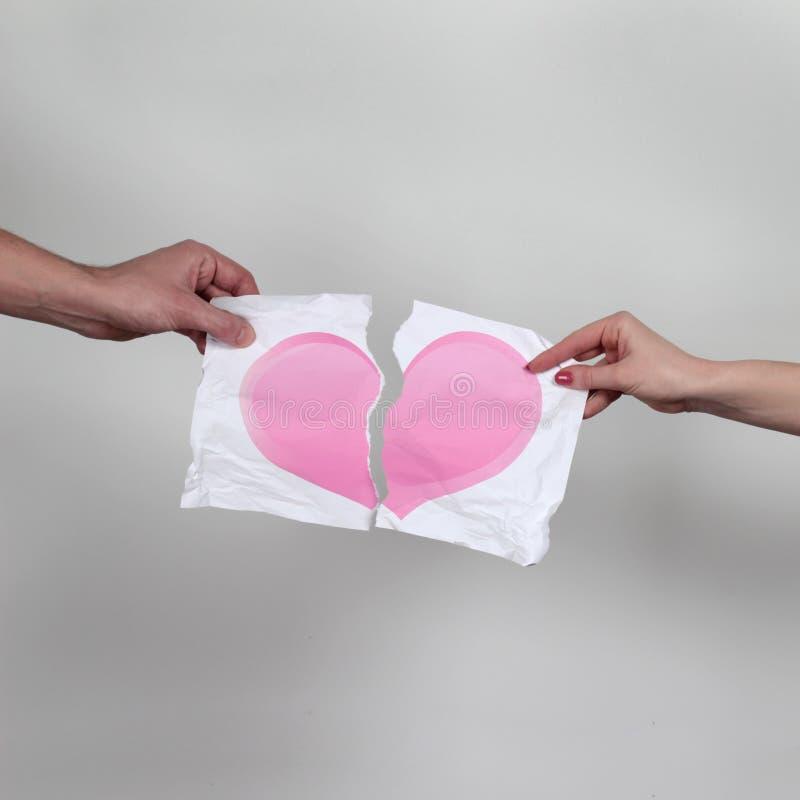 Gebroken hart royalty-vrije stock afbeeldingen