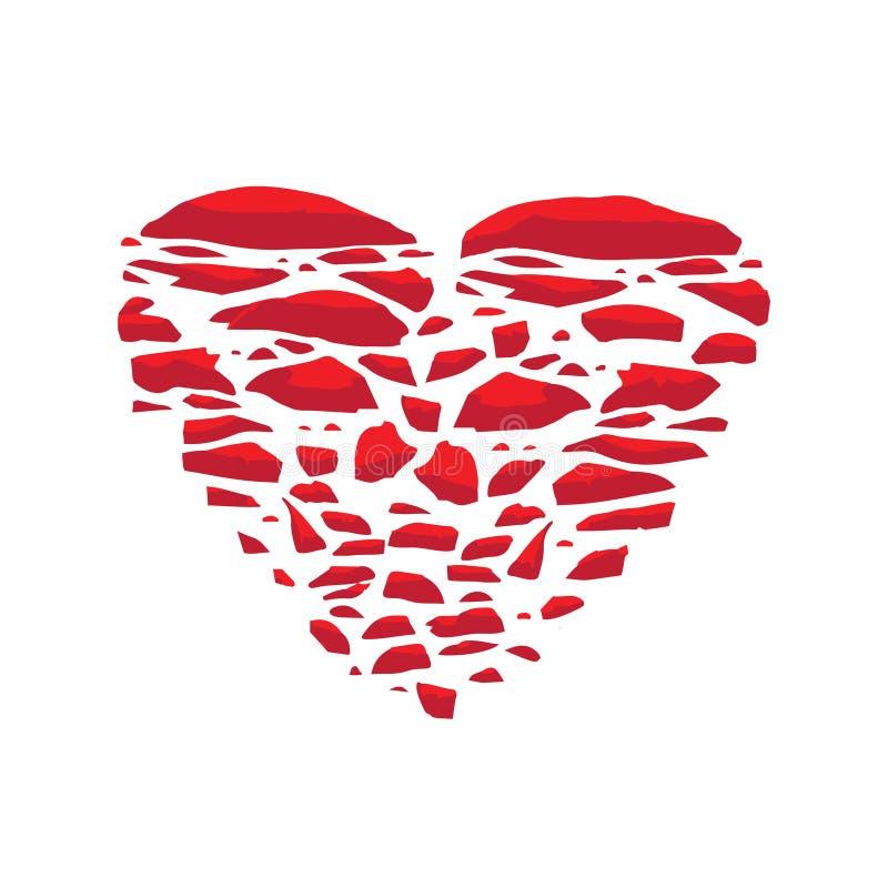 Gebroken Hart Het vectorconcept van de pictogramillustratie liefde royalty-vrije illustratie