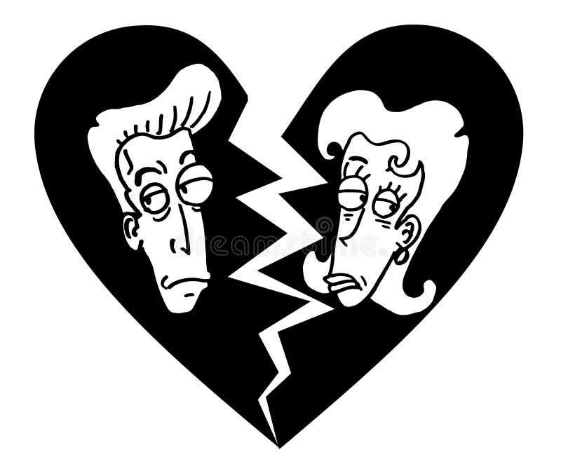 Gebroken huwelijk royalty-vrije illustratie