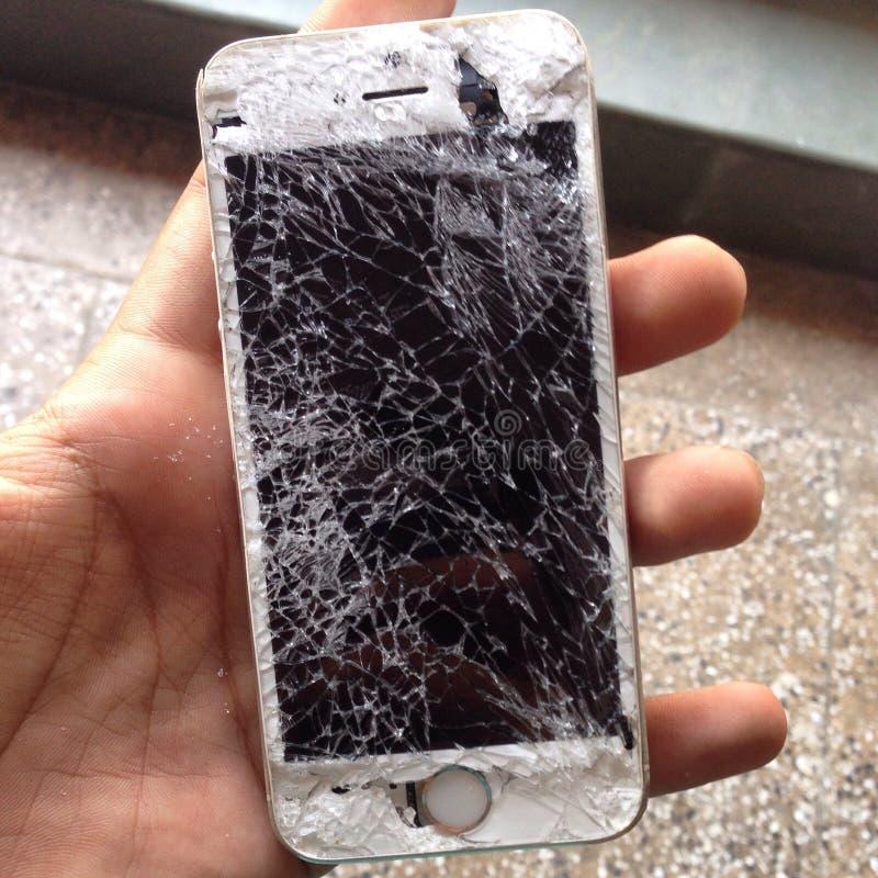 Gebroken iPhone 5s stock afbeelding