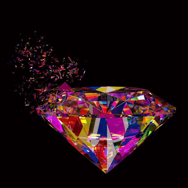Gebroken kleurrijke diamantachtergrond royalty-vrije illustratie