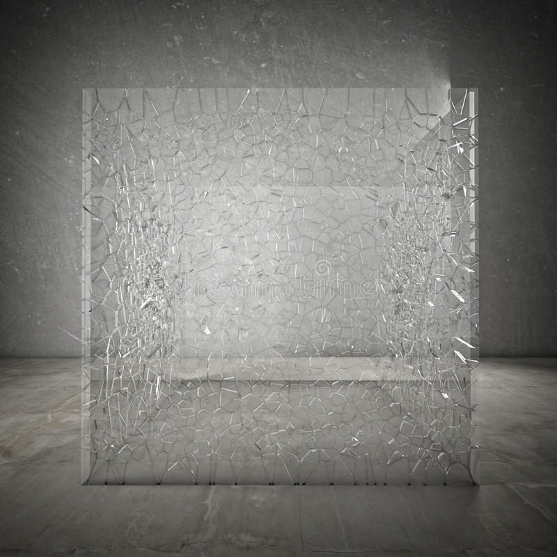 Gebroken kubus stock illustratie