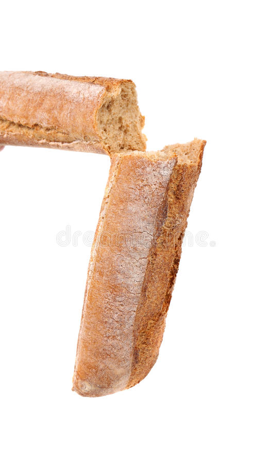 Gebroken lang brood stock afbeeldingen