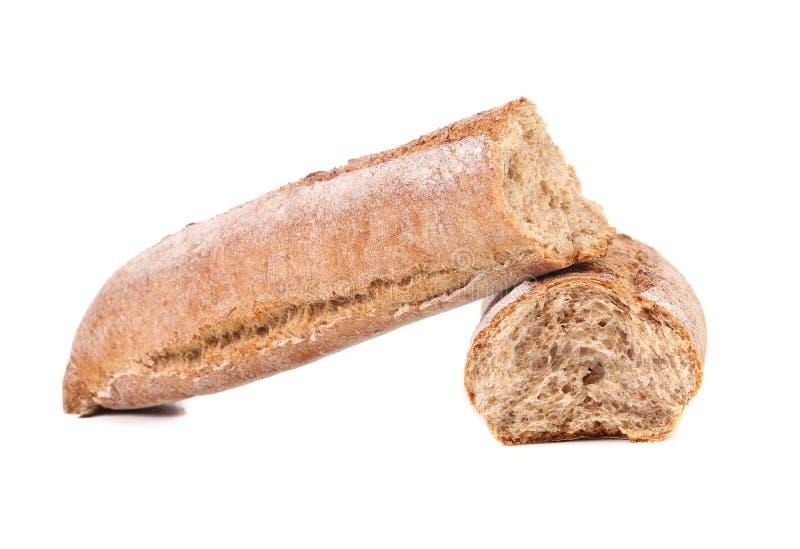 Gebroken lang brood. royalty-vrije stock afbeeldingen