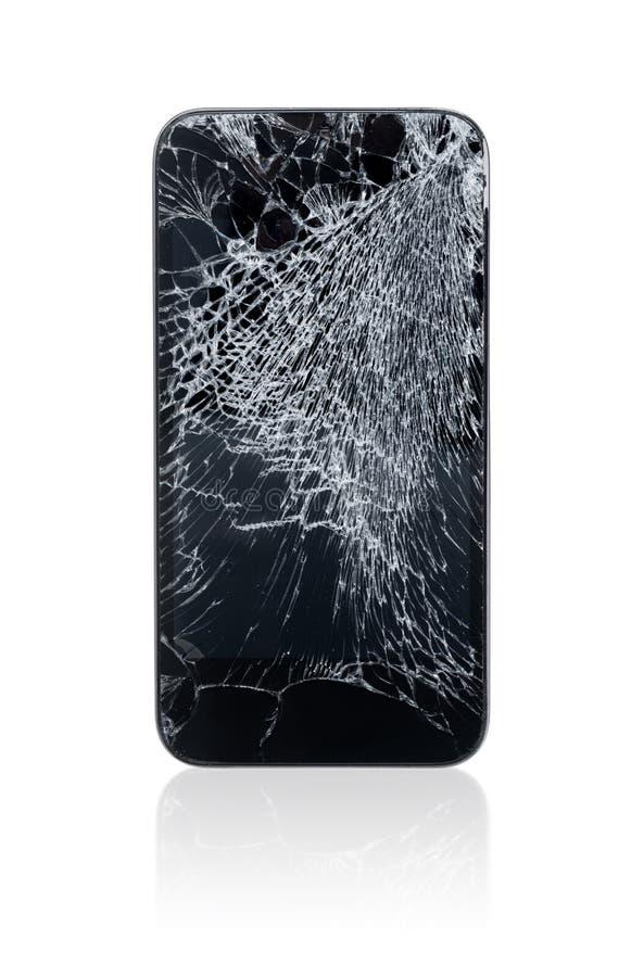 Gebroken Mobiele Telefoon royalty-vrije stock afbeeldingen