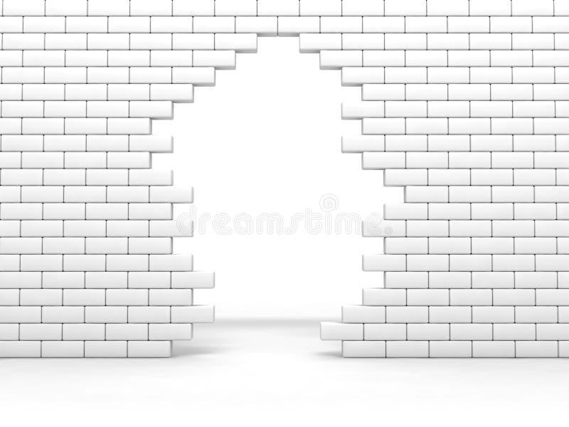 Gebroken muur stock illustratie