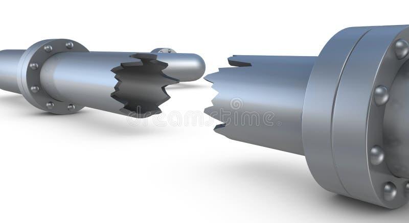 Gebroken pijp vector illustratie