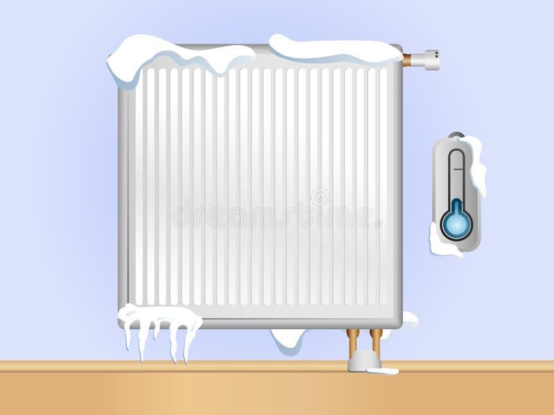 Gebroken Radiator vector illustratie