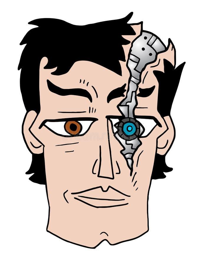 Gebroken robotgezicht vector illustratie