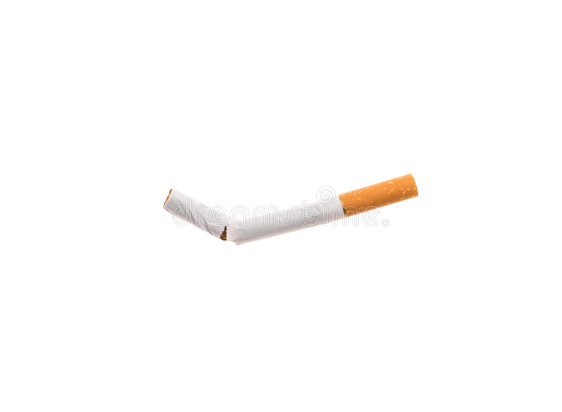 Gebroken Sigaret stock afbeelding