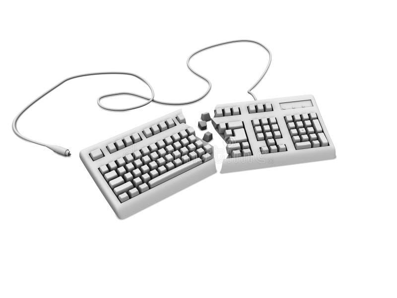 Gebroken toetsenbord royalty-vrije stock afbeelding
