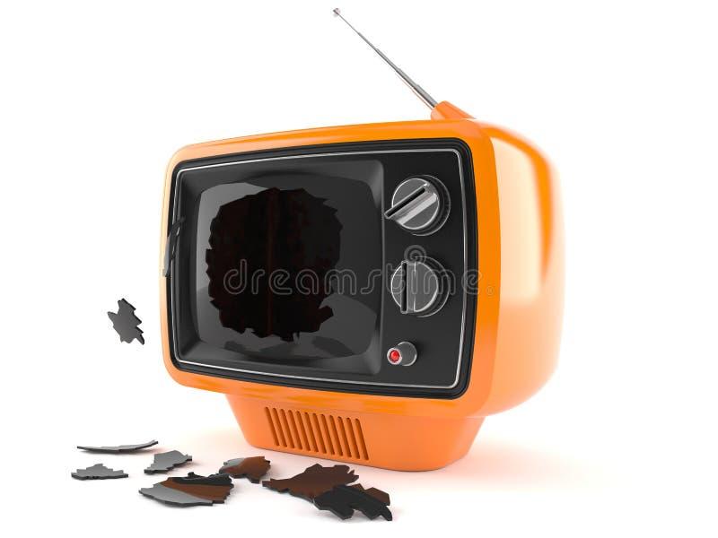 Gebroken TV royalty-vrije illustratie