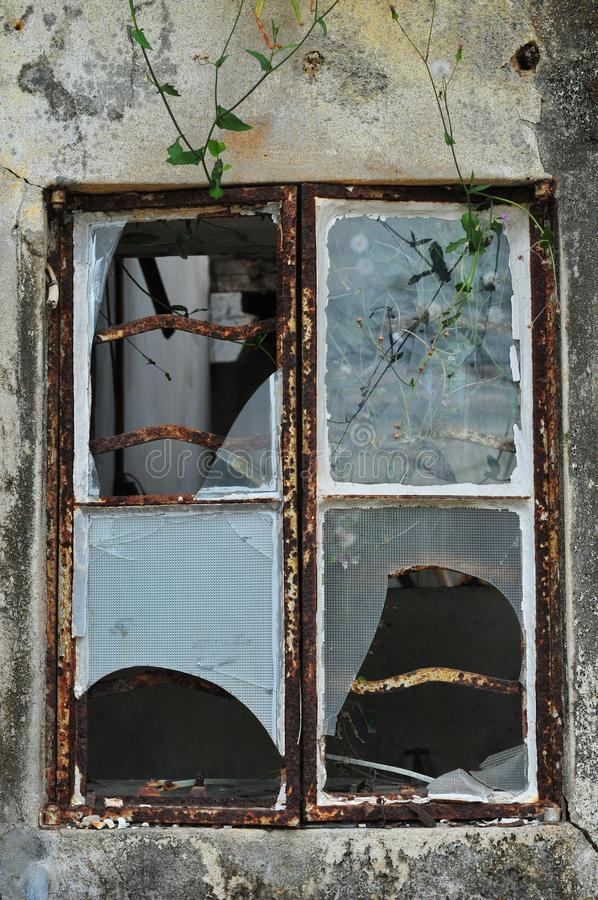Gebroken venster stock afbeelding