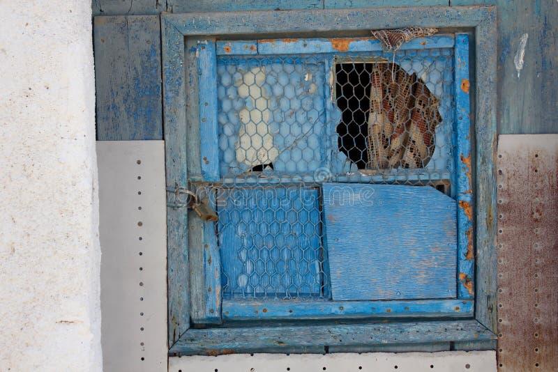 Gebroken venster royalty-vrije stock afbeelding