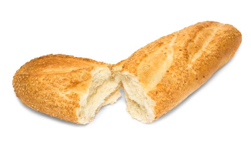 Gebroken vers wit brood stock fotografie