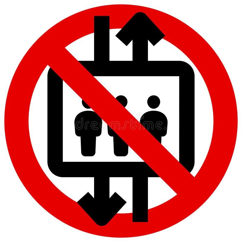 Gebruik geen lift royalty-vrije illustratie