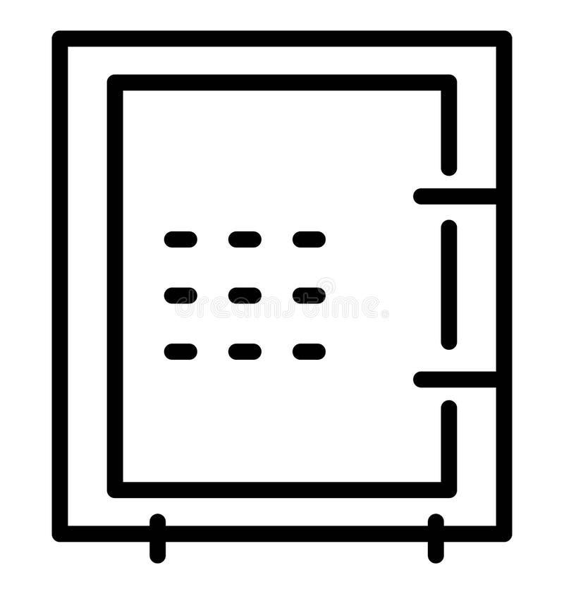 Gebruik van het bank het Kluis Geïsoleerde Vectorpictogram voor Reis en Reisprojecten stock illustratie