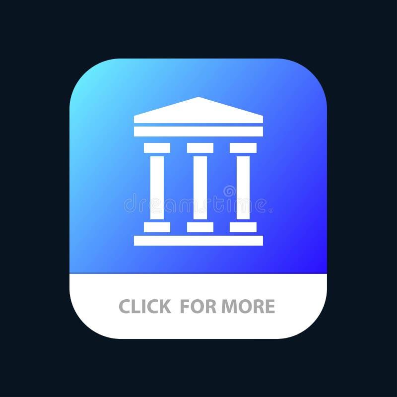 Gebruiker, Bank, de Knoop van de Contant geldmobiele toepassing Android en IOS Glyph Versie royalty-vrije illustratie