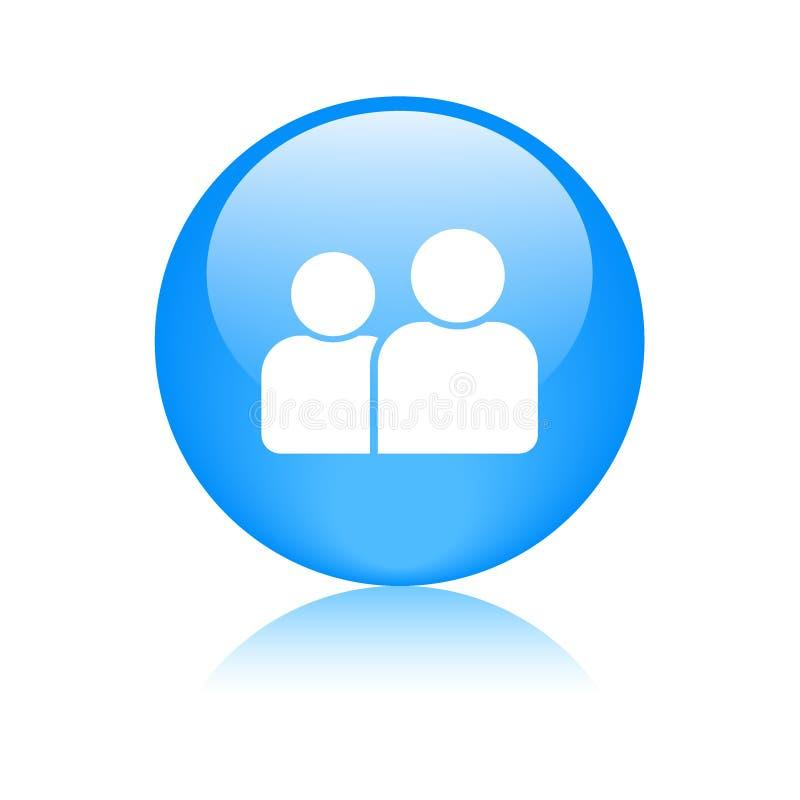 Gebruiker/profiel/avatar pictogramknoop royalty-vrije illustratie