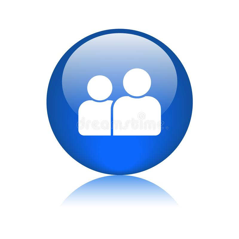 Gebruiker/profiel/avatar pictogramknoop stock illustratie