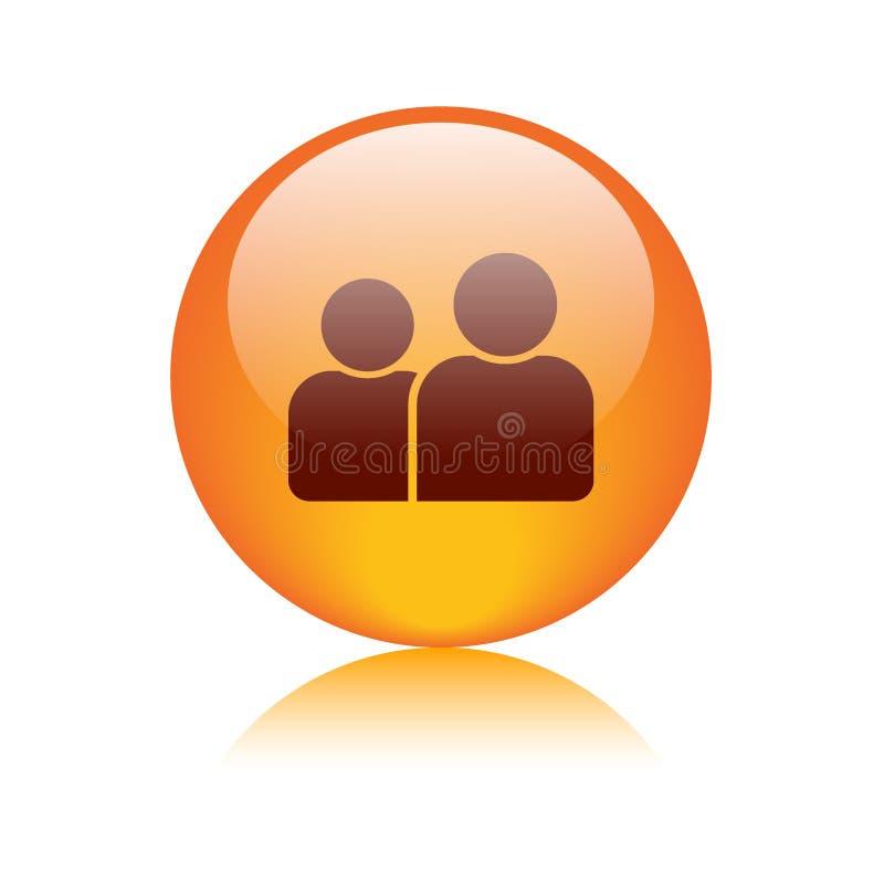 Gebruiker/profiel/avatar pictogramknoop vector illustratie