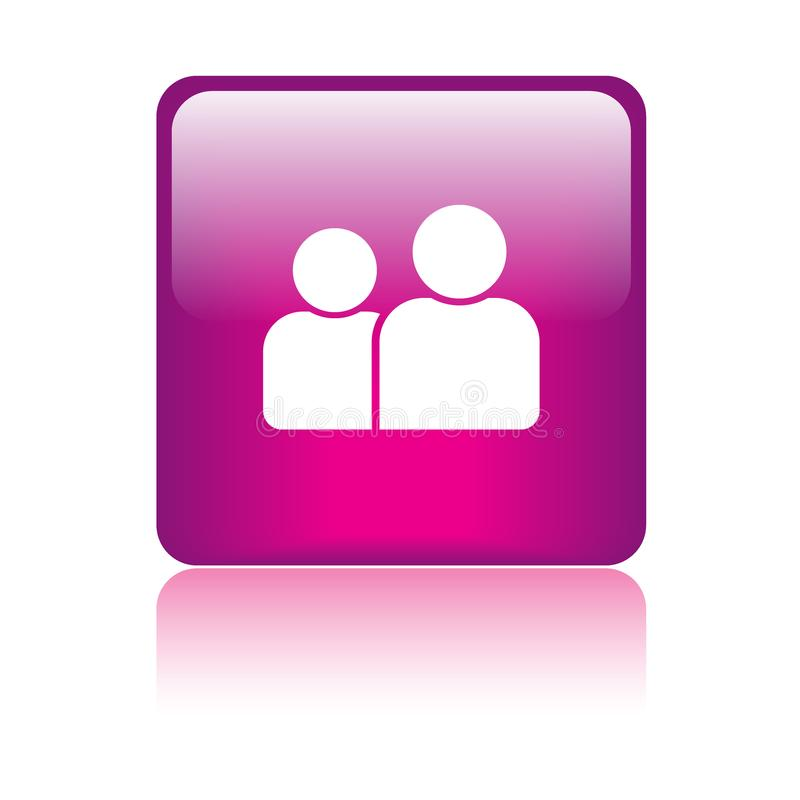 Gebruiker/profiel/pictogramknoop stock illustratie